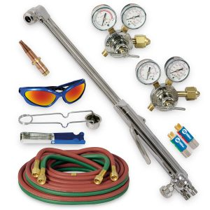 HBAS-30300 Heavy Duty Hand Cutting Torch Outfit with Acetylene Tips, CGA 300