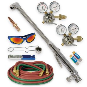 HBAS-30510 Heavy Duty Hand Cutting Torch Outfit with Acetylene Tips, CGA 510