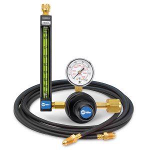 22-80-320-6 Argon/CO2 Flowmeter Regulator with Hose, 80 PSIG
