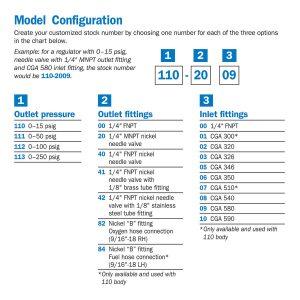 110-0000 General Purpose Single Stage Brass Cylinder Regulator, 15 psig